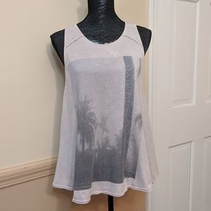 Free People We The Free Washed Graphic Swing Tank